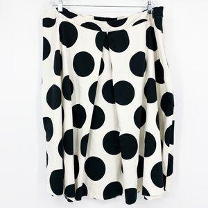 Lane Bryant Polkadot Circle Pleated Skirt Plus